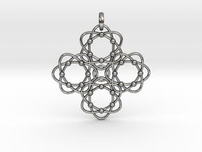 Pendant  Holy Cross Einstein in Interlocking Polished Silver