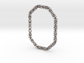 40 Houses Necklace in Polished Bronzed Silver Steel