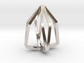 House Line Pendant in Platinum