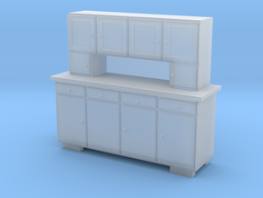 TT Cupboard 4 Doors - 1:120 in Smooth Fine Detail Plastic