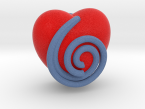 Spiral Heart in Full Color Sandstone