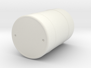 O Scale Barrel in White Strong & Flexible