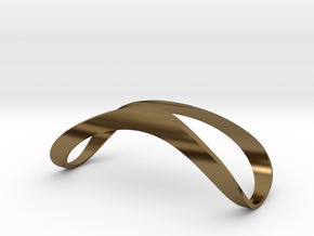 Finger Splint Open Top Jewelry in Polished Bronze