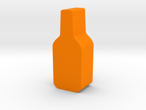 Game Piece, Bottle in Orange Processed Versatile Plastic