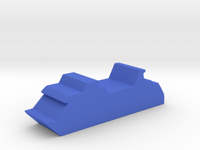 Game Piece, Cruise Ship in Blue Processed Versatile Plastic