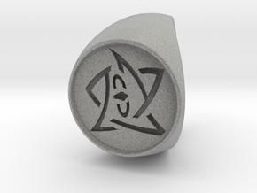 Elder Sign Ring Size 9 in Metallic Plastic