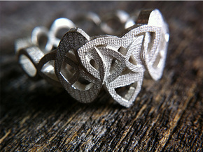 Trinity Celtic Knot Ring in Natural Silver