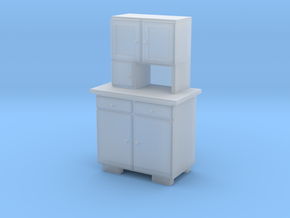 TT Cupboard 2 Doors - 1:120 in Smooth Fine Detail Plastic