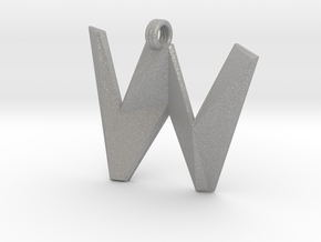 Distorted letter W in Aluminum