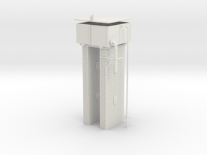 LM41 Water Tower in White Natural Versatile Plastic