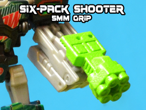 6-Pack Shooter, 5mm in White Natural Versatile Plastic
