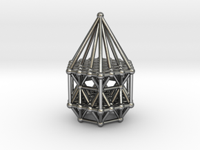 Hexagrid Matrix Stargate in Polished Silver