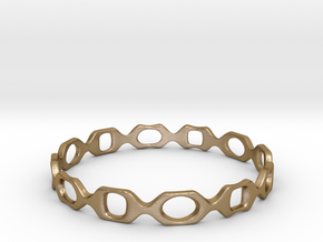 Bracelet D 2 Small in Polished Gold Steel