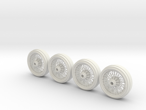 Full set of Wire Wheels in White Strong & Flexible
