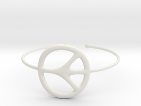 Peace Bracelet in White Natural Versatile Plastic