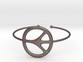 Peace Bracelet in Polished Bronzed Silver Steel