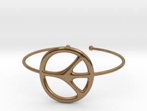 Peace Bracelet in Natural Brass
