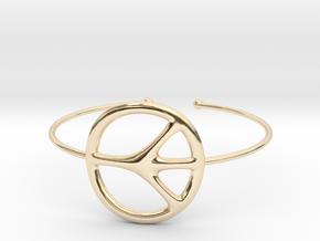 Peace Bracelet in 14K Yellow Gold