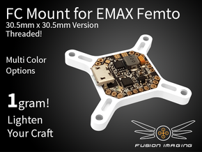 Femto FC 30.5x30.5mm Mount / Transfer Plate in White Natural Versatile Plastic