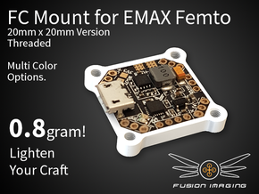 Femto FC 20x20mm Mount / Transfer Plate in White Natural Versatile Plastic