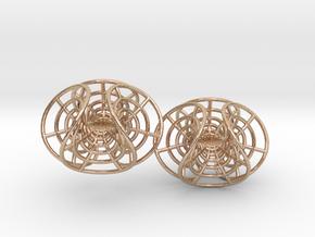Enneper mesh earrings in 14k Rose Gold Plated Brass