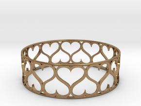 Love Bracelet in Natural Brass