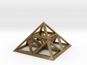 Triforce Giza Pyramid in Polished Gold Steel