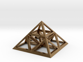 "Triforce Giza Pyramid 2"" in Natural Brass"