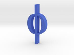 Greek Jewelry - Phi Pendant in Blue Processed Versatile Plastic