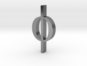 Greek Jewelry - Phi Pendant in Polished Silver