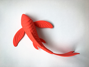Koi sculpture in Red Processed Versatile Plastic
