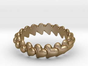Hearts Bracelet 75 in Polished Gold Steel