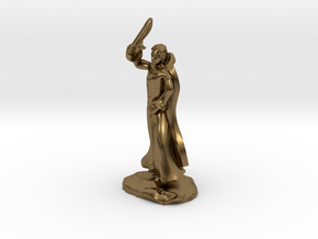 Fzoul, Human Wizard In Robes With Flail in Natural Bronze