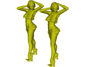 1/15 scale nose-art striptease dancer figure A x 2 in Smooth Fine Detail Plastic