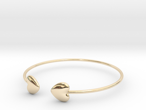 Everything heart bracelet in 14k Gold Plated Brass