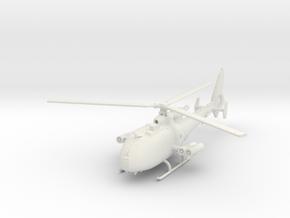 Aerospatiale SA-341M 'Gazelle' (with HOT ATGM) in White Natural Versatile Plastic: 1:100