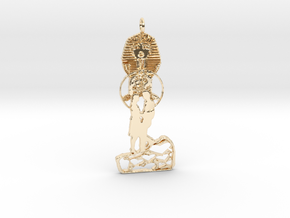 Egyptian Love Pendant in 14K Yellow Gold