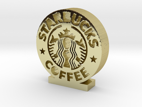 Starbucks Logo in 18k Gold