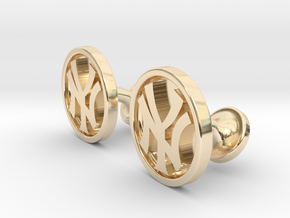 Yankees Cufflinks in 14k Gold Plated Brass