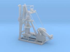 1/50th Small Oil Well Pump Jack & Wellhead in Smooth Fine Detail Plastic