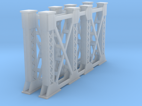 Two Steel Bridge Supports N Scale in Smooth Fine Detail Plastic