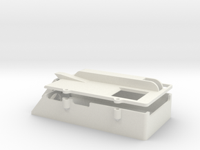 Clark TK-60 Case with Lid in White Natural Versatile Plastic