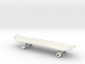 Printle Skateboard in White Strong & Flexible