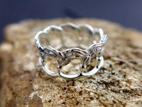 Kelp Ring - Nature Jewelry in Polished Silver: 5 / 49