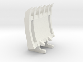 1/50 330dl-336dl-336e Excavator Root Rake 2 in White Natural Versatile Plastic