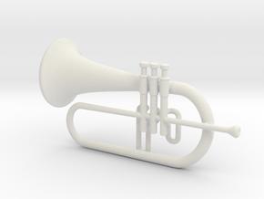 Flugel Horn - minimum in White Natural Versatile Plastic