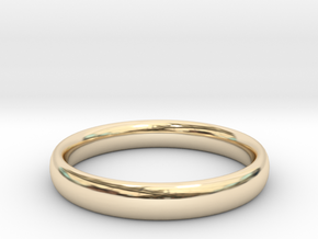 "Ring ""Ellipse"" in 14k Gold Plated: 6 / 51.5"