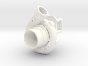 Procharger 1/12 Single Crank Mount 80mm in White Processed Versatile Plastic