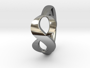 Ring of Infinity in Polished Silver: 6 / 51.5