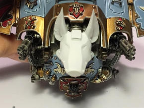 Anubis head compatible w/ Imperial Knight Titan in Frosted Extreme Detail